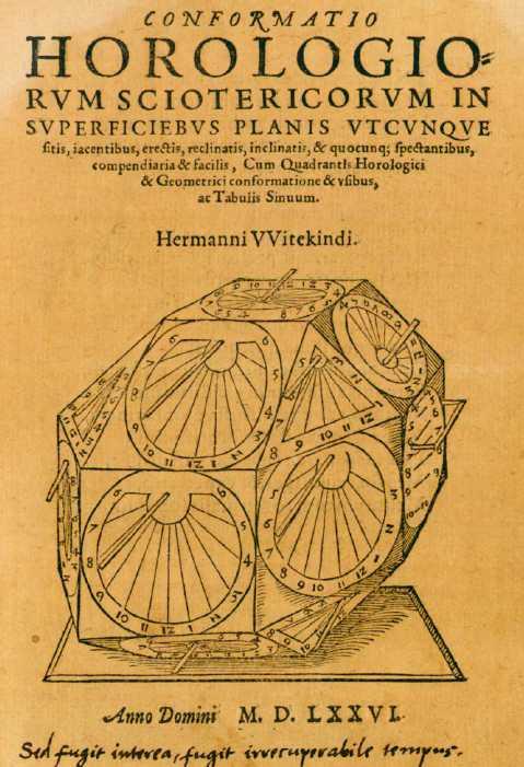 Conformatio horologium sciotericorum-Hermanni Witekindi,1576