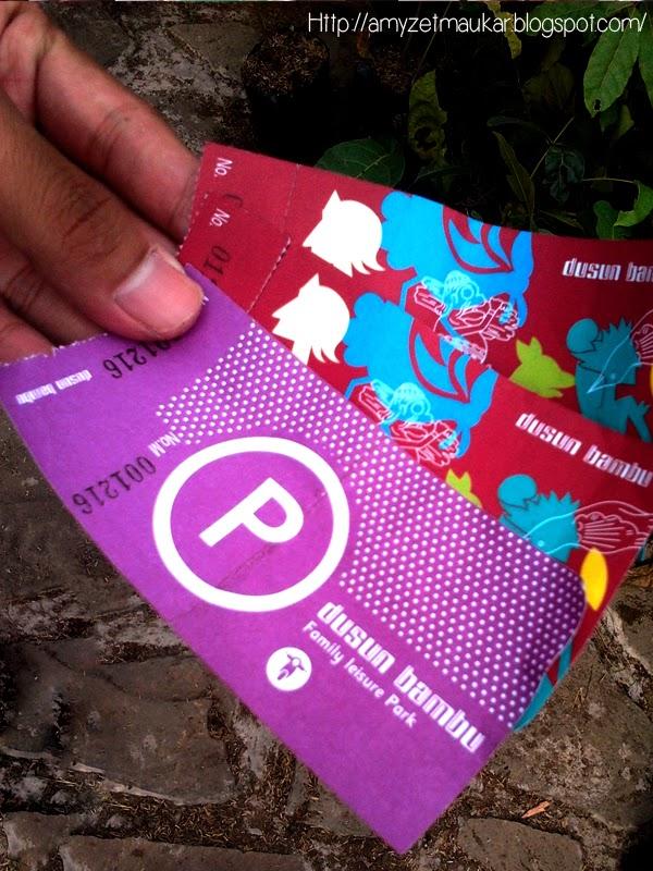 Tiket Parkir dan masuk Dusun Bambu, Family Leisure Park. Wisata Bandung Jawa Barat