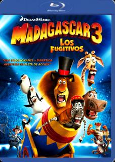 Carátula Madagascar 3 - Los Fugitivos película brrip latino 2012