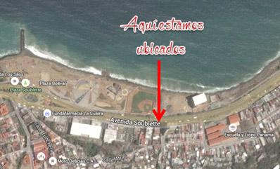 Nuestra ubicación desde el satélite