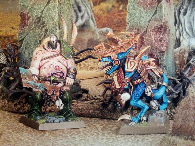 New Oldblood lizardmen vs Nurgle Lord miniature photo