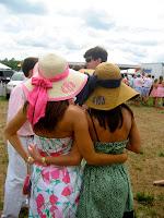 Monogrammed Wide Caramel Derby Hat