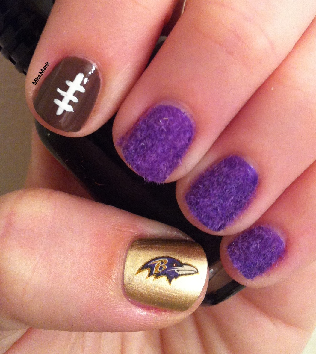 Miscellaneous Manicures: Baltimore Ravens Nails - Week 15 ...