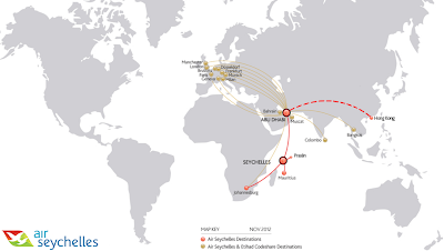 Air Seychelles Route Network