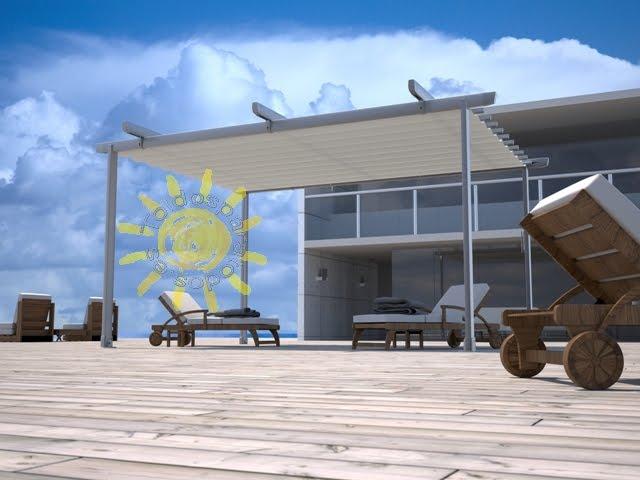 Toldosenlared construye tu toldo pergola con estructura for Estructura de toldo