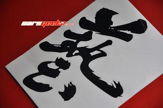 JS Racing Japan - Waza Sticker decal black