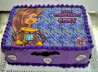 Tortas Monster High, Clawdeen Wolf, parte 2