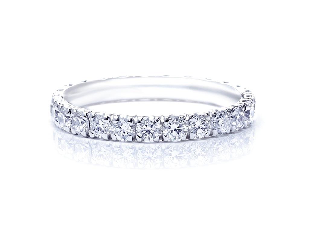 上質のダイヤモンドで作るフルオーダーピンキーリング。