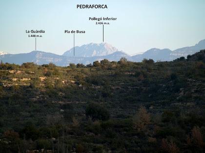 La Serra de Busa i el Pedraforca des del Serrat del Pont