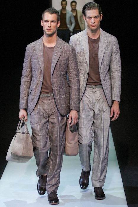 Giorgio Armani Spring-Summer 2013 Men's suits