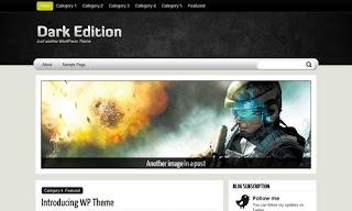 Dark Edition Wordpress Theme