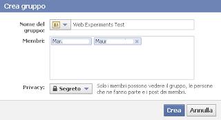 gruppo facebook cancella