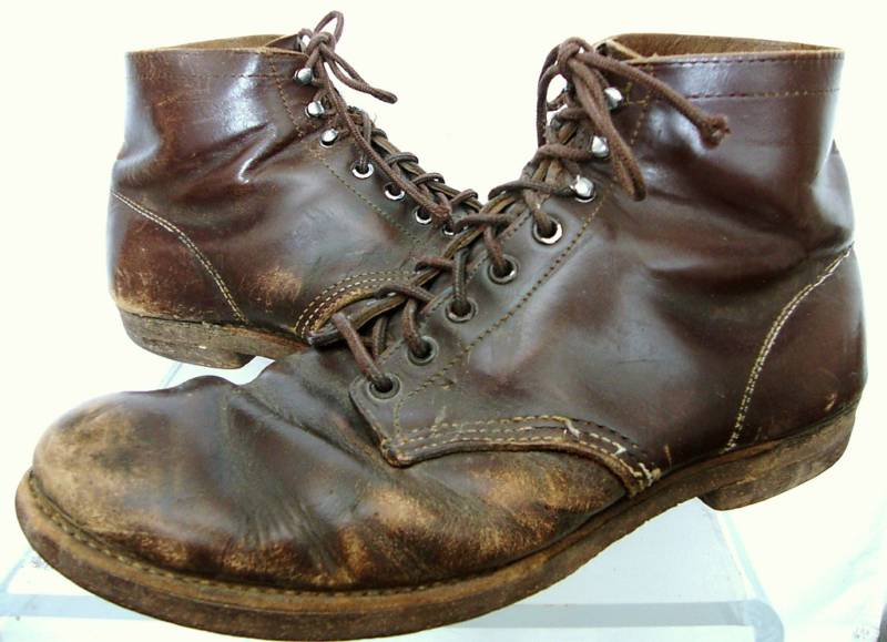 mens boots vintage heavy black