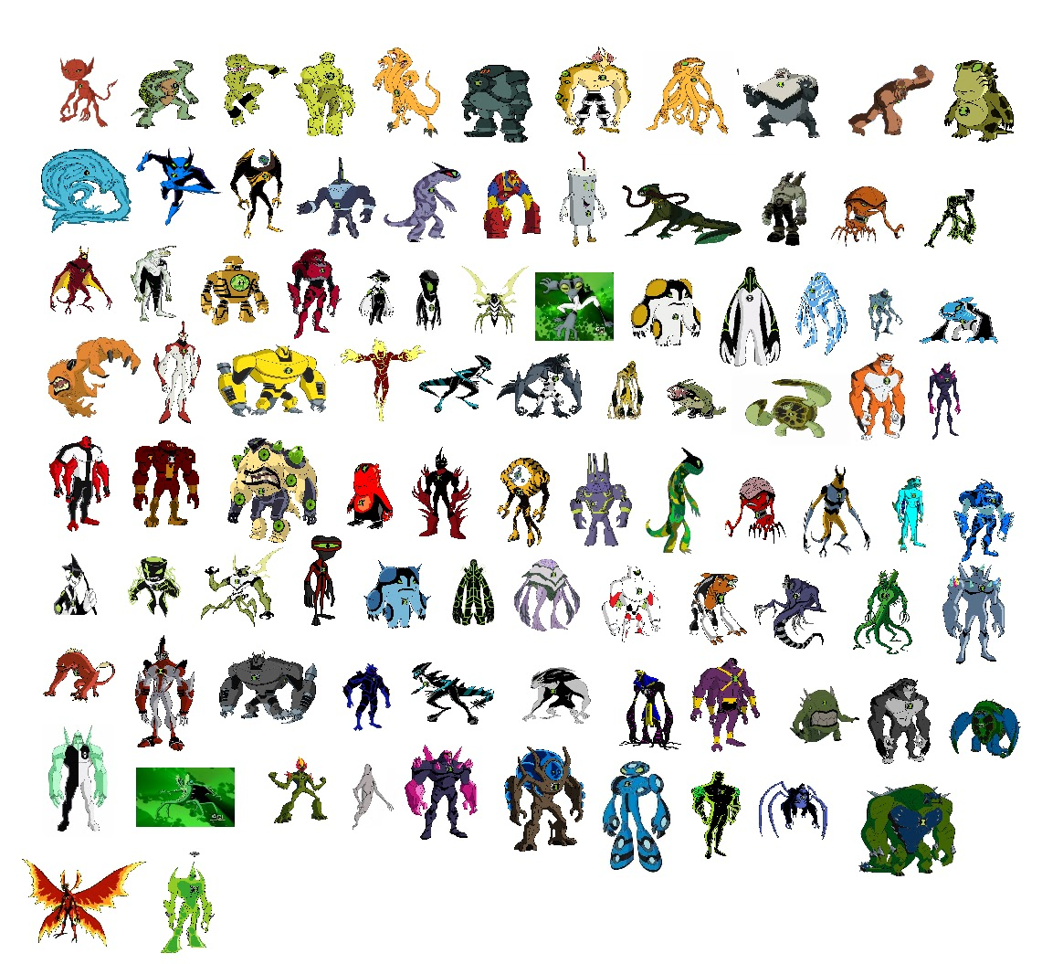 The Gallery For Gt Ben 10 Aliens Unleashed All Aliens