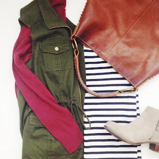 Olive Vest Outfit Friday Favorites