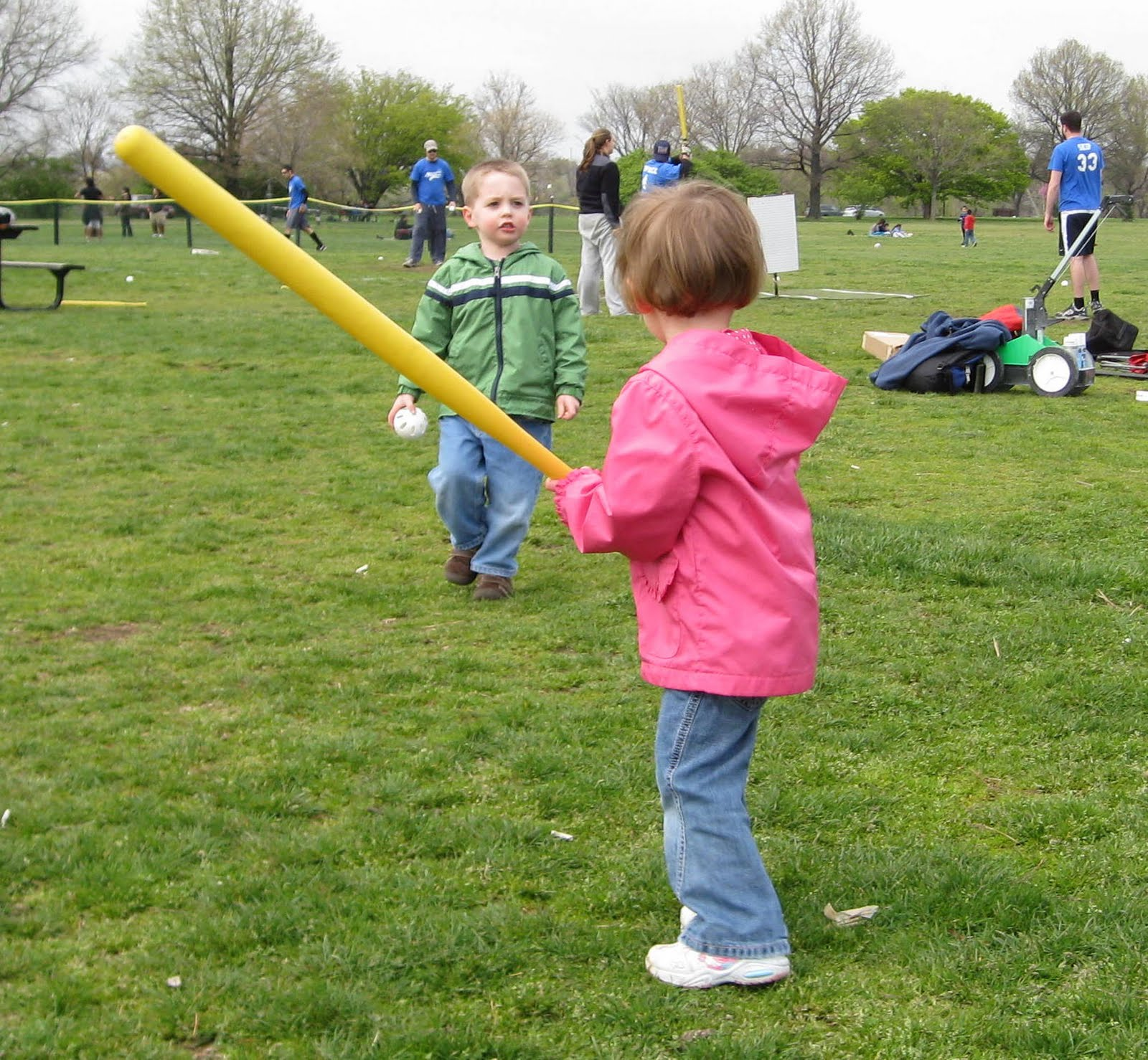 dave neala u0026 our family trying out wiffle ball