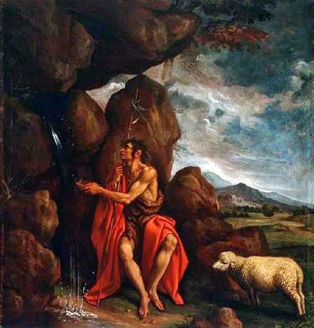 San Juan Bautista en el desierto del artista español Pedro Orrente
