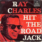 ray charles album cover hit the roead jack