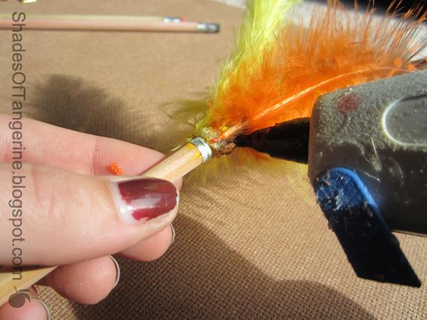 Как сделать перо из карандаша