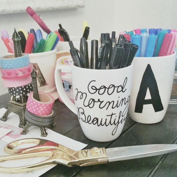 Diy Coffee Mugs Paint Paint Pen Coffee Mugs
