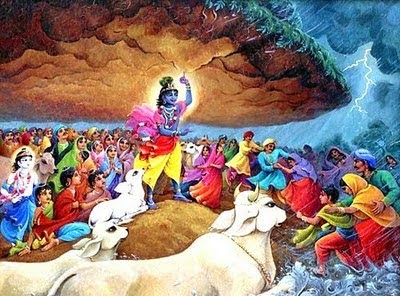 Lord Krishna Govardhan Parvat Images for free download