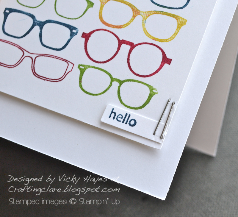 Spec-tacular by Stampin' Up with Tiny Tags sentiment