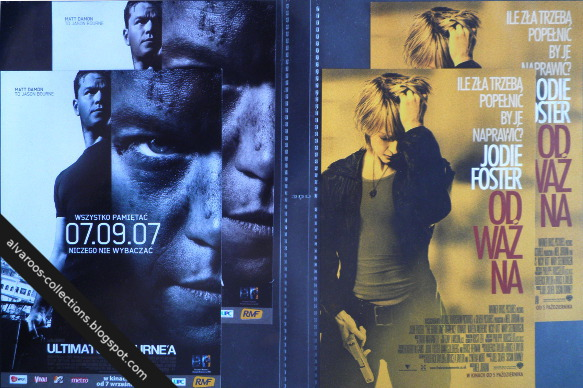movie flyers - Bourne Ultimate, The brave one