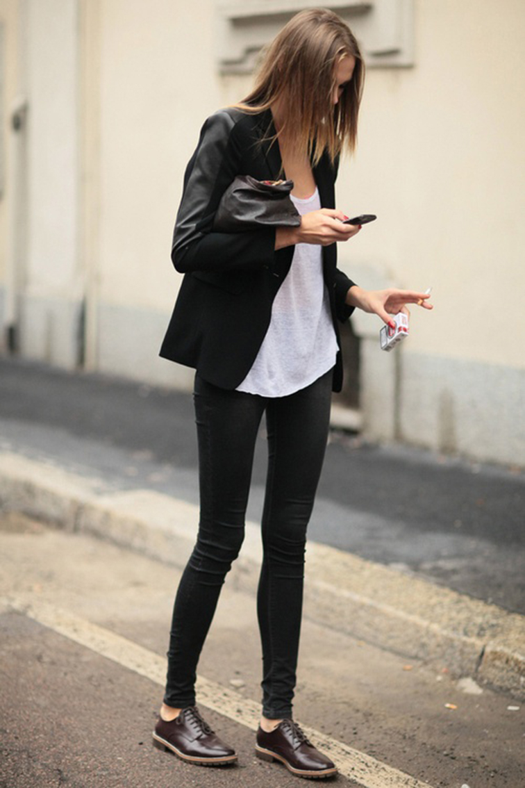 Model off duty, effortless chic