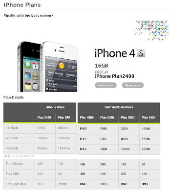 Smart's official Postpaid and Prepaid plans for the iPhone 4S