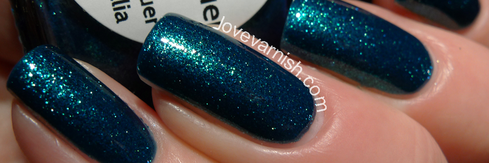 LilypadLacquer Teal Diamonds