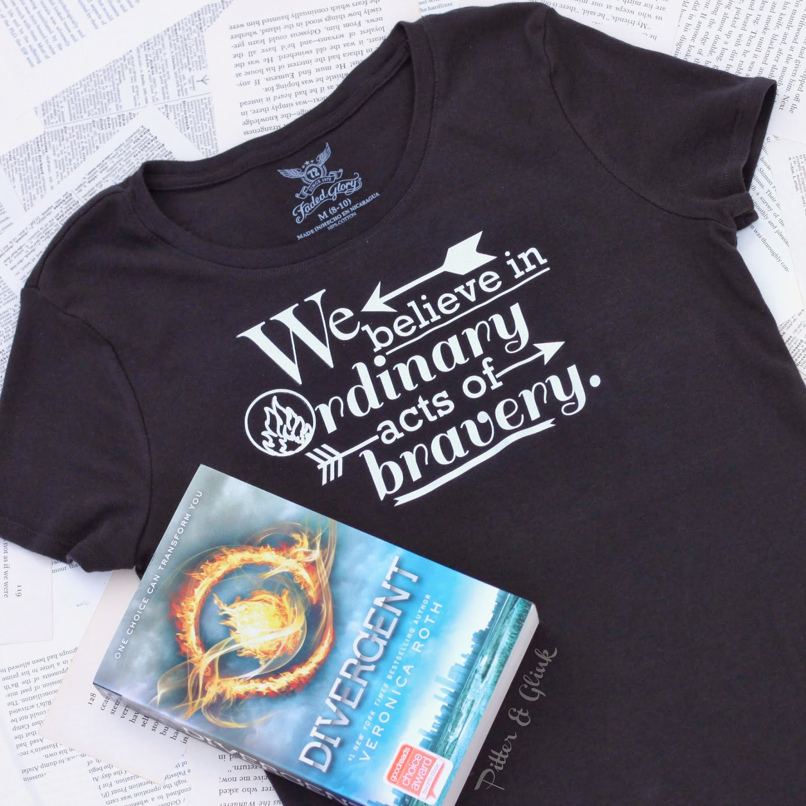 Create your own #Divergent Inspired T-shirt with a #Silhouette and HTV--Tutorial from www.PitterandGlink.com #Dauntless