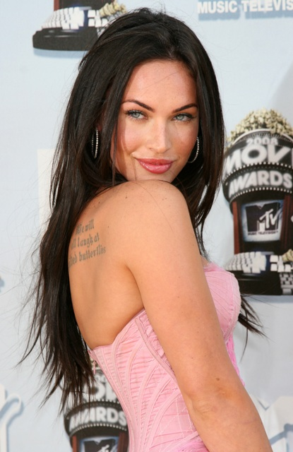 megan fox tattoo on side