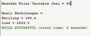 Source Code Java Netbeans Menghitung Luas dan Keliling Lingkaran