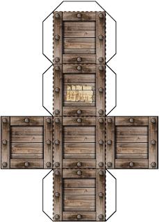 Papermodel dungeon furniture 3d foldup box