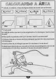 Atividades Área - Calculando a Área - Atividades de Matemática - Atividades Ensino Fundamental