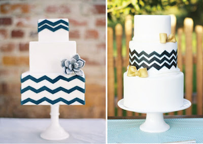 Chevron Wedding Cakes