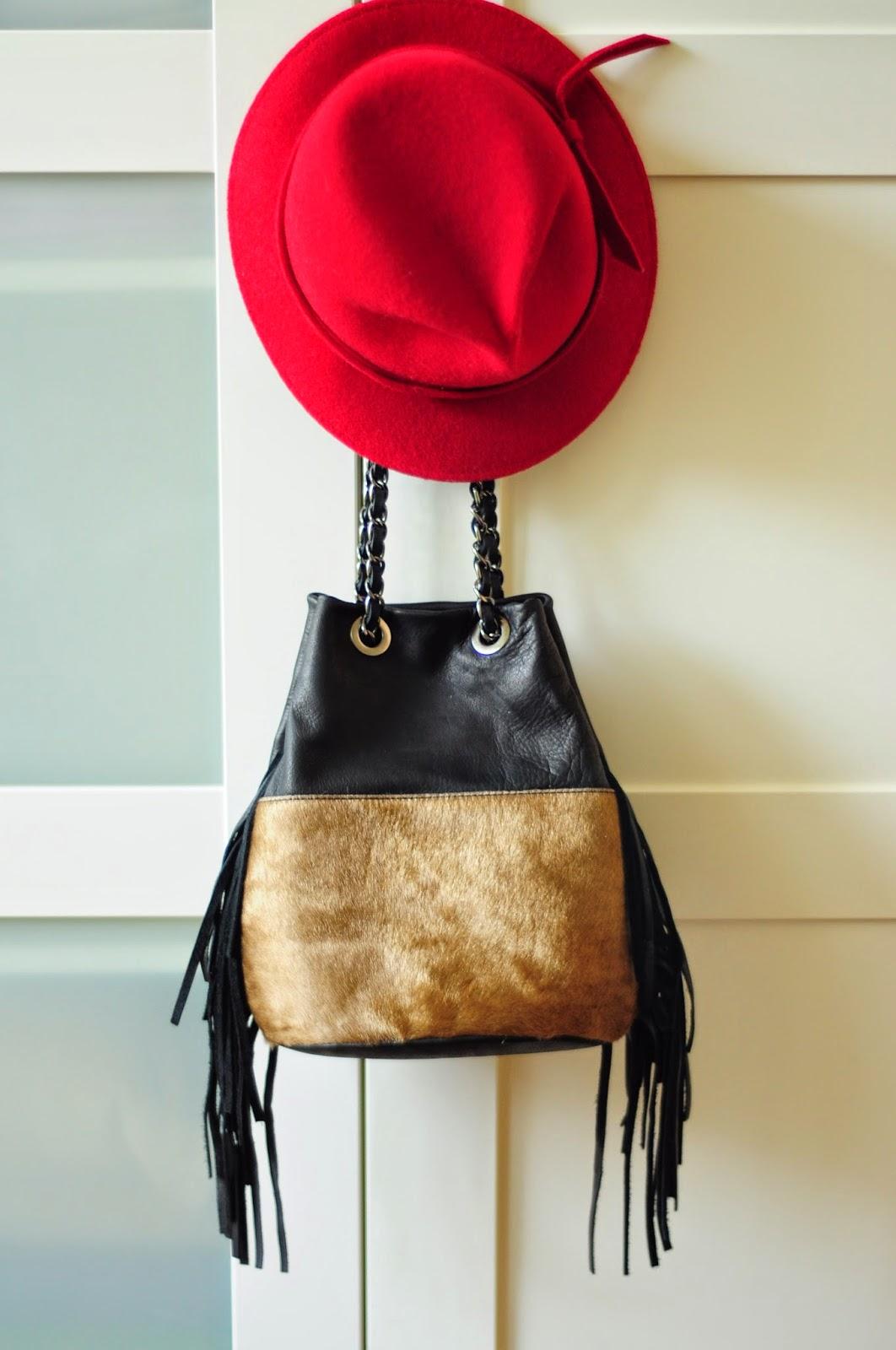 kapelusz torba z fredzlami