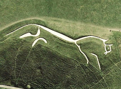 Uffington White House seen from space