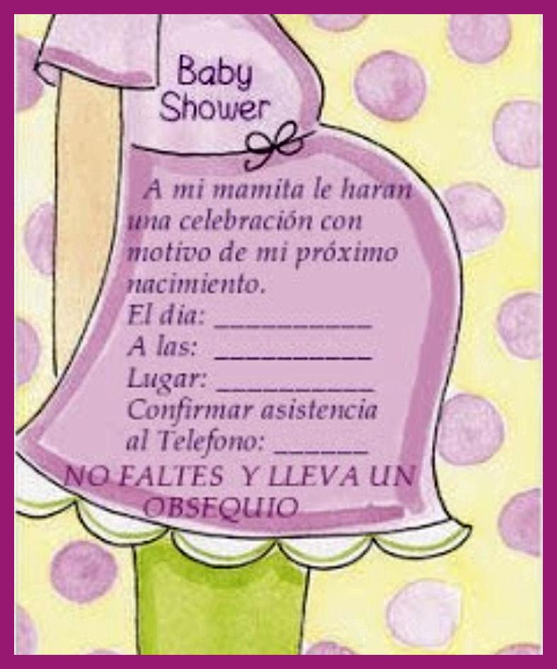 Imagenes De Invitaciones Para Baby Shower