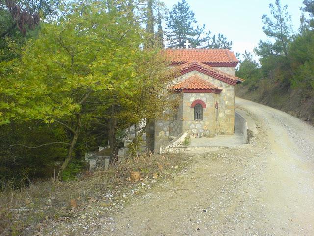 Το εκκλησάκι της Αγίας παρασκευής πάνω από το ΦΟΕ