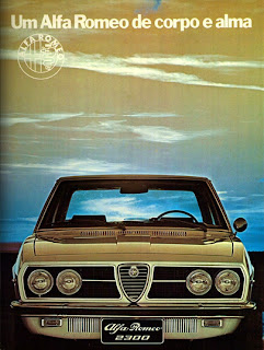 propaganda Alfa Romeo 2300 - 1974. anos 70. .brazilian advertising cars in the 70. os anos 70. história da década de 70; Brazil in the 70s; propaganda carros anos 70; Oswaldo Hernandez;