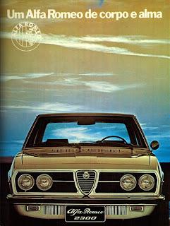 propaganda Alfa Romeo 2300 - 1974. anos 70. .brazilian advertising cars in the 70. os anos 70. história da década de 70; Brazil in the 70s; propaganda carros anos 70; Oswaldo Hernandez;