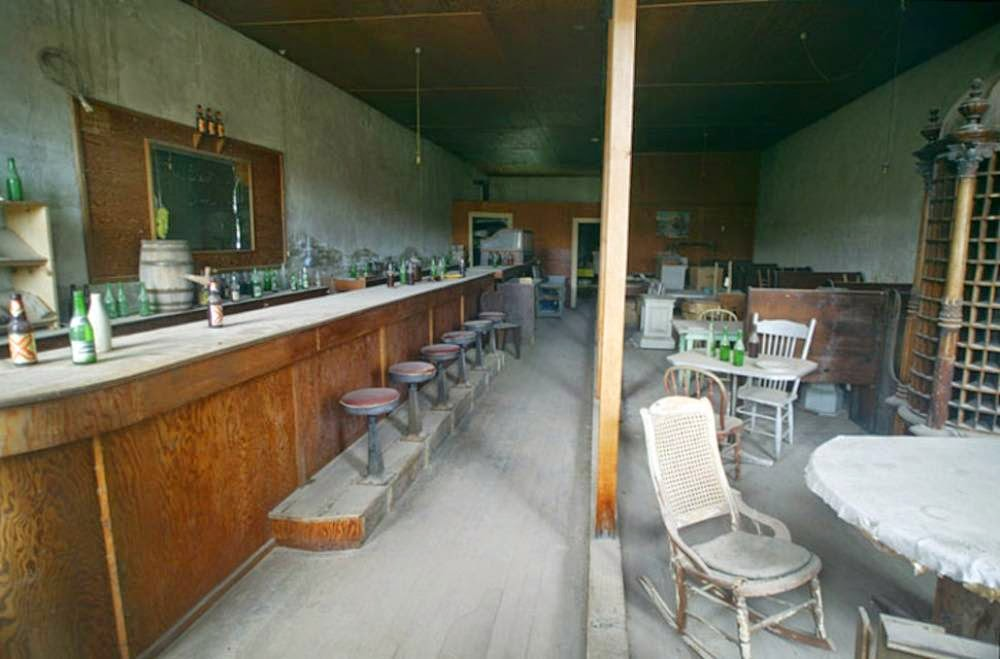 Bar in the town of Bodie, California, USA
