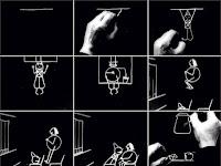 Cena da animação Fantasmagorie, de Émile Cohl