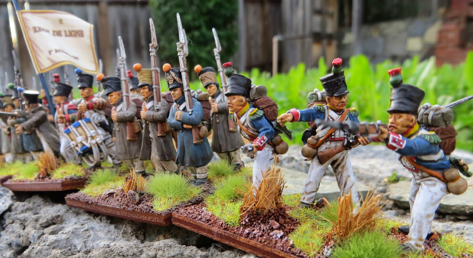 Perry Napoleonic Greatcoated French Finished28mm, Army Painter Quickshade, French, Line Infantry, Napoleonic, Perry Miniatures