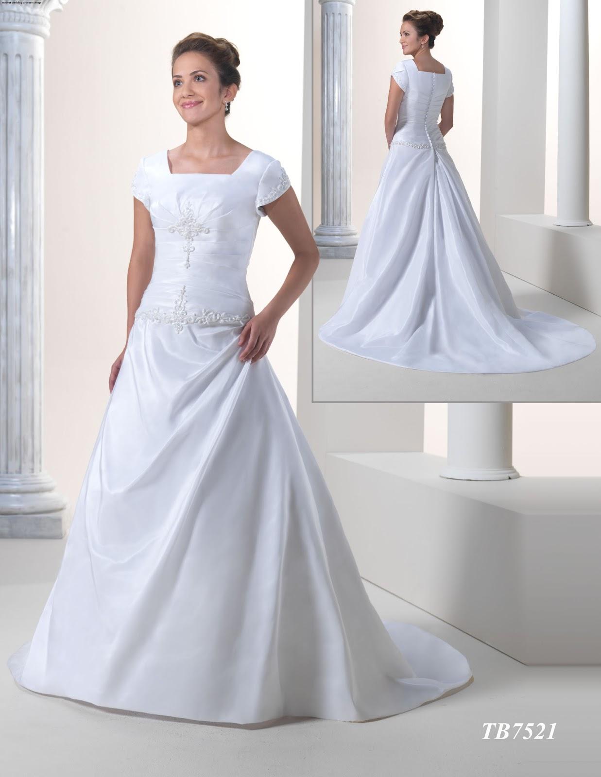 Modest Wedding Dresses Cheap