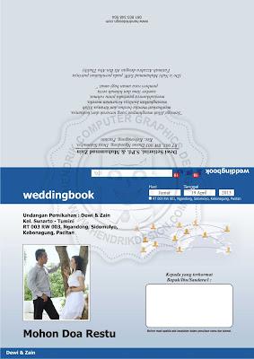 Contoh Undangan Pernikahan Model Facebook (HCGD-09) | desain dan