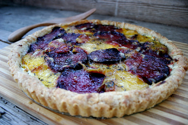 Red & Golden Beet & Goat Cheese Tart