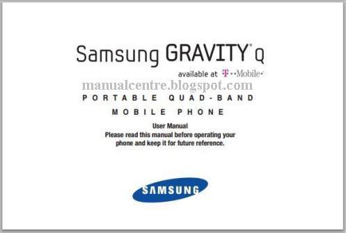 Samsung Gravity Q Manual Cover
