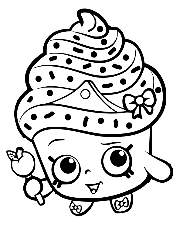 If You Would Like The Layered Colored In Version Of Cupcake Queen Pictured Below